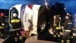 Diretto a Catania il bus ribaltato a Villa S. Giovanni: 15 feriti, gravi due donne