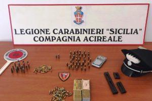 Viagrande, munizioni custodite in casa della madre: denunciato 55enne di Zafferana Etnea