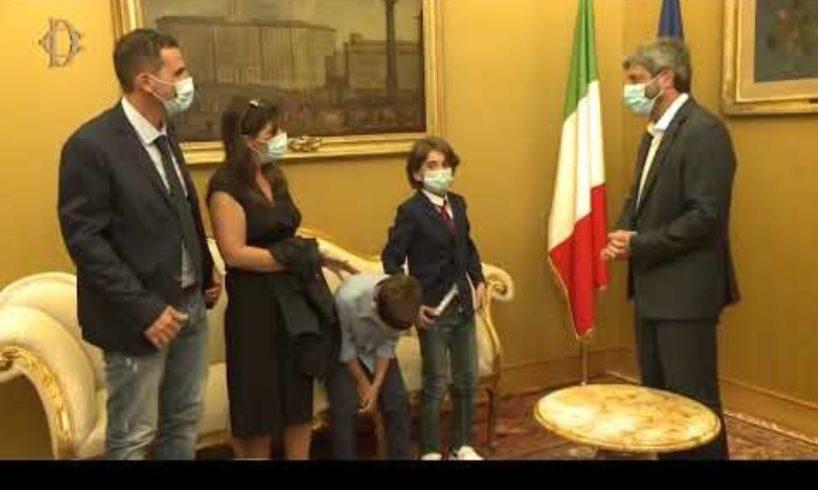 Catania, grandi onori per Giorgio 'campione di lealtà': ricevuto dal presidente della Camera e dal ministro dello Sport