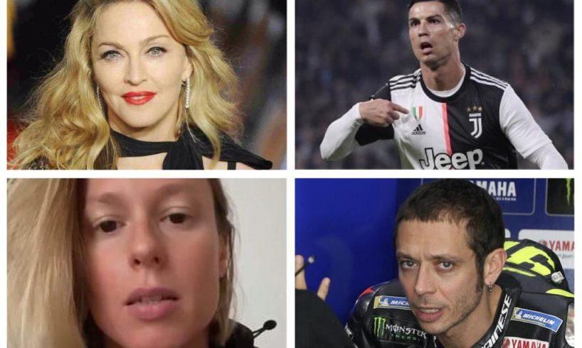 Covid, tutti i vip contagiati: da Madonna e Ronaldo a Pellegrini e Rossi