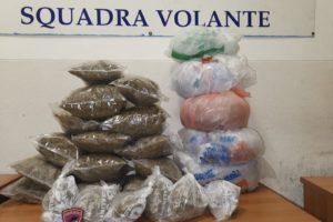 Catania, Polizia scopre deposito di droga: sequestrati 8.35 kg di marijuana