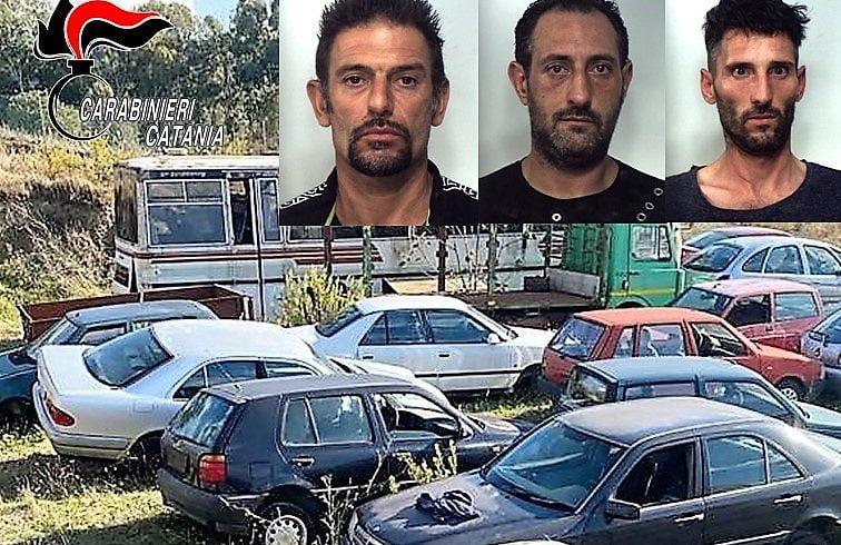 Vizzini, smontavano auto dentro un deposito: tre uomini di Grammichele arrestati in flagranza