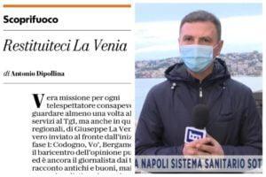 """Adrano: """"Restituiteci La Venia"""". L'appello e l'applauso di Repubblica per il giornalista del Tg1"""