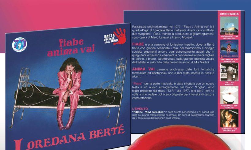 Bertè da collezione per aiutare la campagna contro la violenza sulle donne: torna il vinile Fiabe/Anima Vai