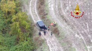 Tra Mineo e Grammichele elicottero dei Vigili del Fuoco mette in salvo occupanti di un'auto