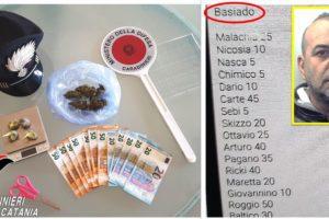 Gravina di Catania, droga e lista dei clienti dello 'spinello-baseado': 48enne arrestato in flagranza
