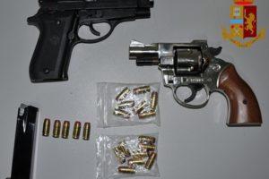 Adrano, armi e munizioni dentro l'armadio di casa: Polizia arresta 30enne