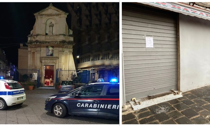 Catania, chiusi 2 negozi che non rispettano 'zona rossa': sanzionati i titolari