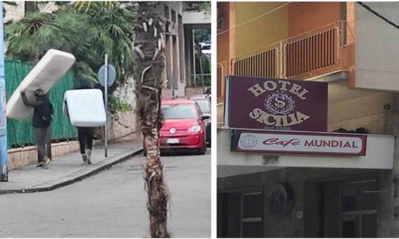 Paternò, incendio dentro l'ex Albergo Sicilia: ormai è diventato l'hotel dei senzatetto