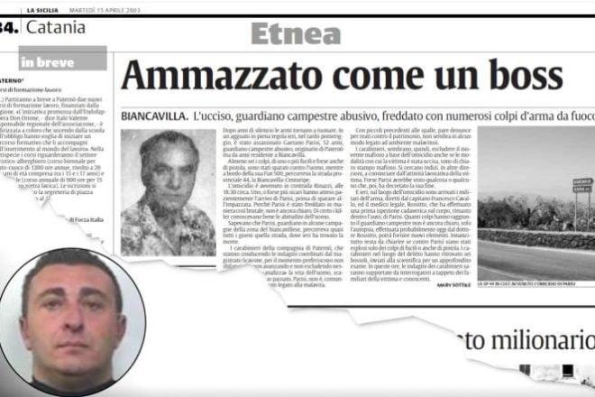 Biancavilla, arrestato pregiudicato 46enne: deve scontare ergastolo per l'omicidio di una guardia campestre di Paternò