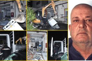 Catania, tentanto di rubare con l'escavatore il Postamat di viale Nitta: uno preso in flagranza