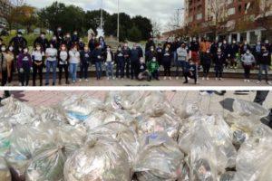 Paternò, ripulito dalla plastica il parco di viale dei Platani: con il contributo di decine di volontari